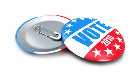 Vote USA 2016 badge 3d Illustrations. On a white background royalty free illustration