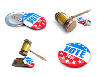 Vote usa election badge button for 2016. Background.. 3d Illustrations on a white background vector illustration