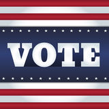 Vote USA. Elections card design. Word Vote on an abstract background in a style of USA flag Royalty Free Stock Photo