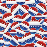 Vote USA pins pattern Royalty Free Stock Photo