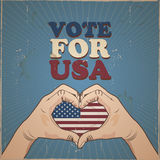 Vote for USA presidential election Stock Image