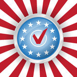 Vote USA. Presidential election badge in colors of american flag Royalty Free Stock Photography