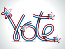 Vote USA Presidential Election Ribbon Stock Image