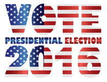 Vote 2016 USA Presidential Election Vector Illustration Stock Image