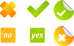 Vote vector icon set Royalty Free Stock Photography