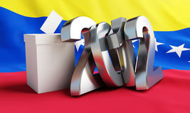 Vote Venezuela 2012. On the background of the flag Royalty Free Stock Images