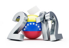 Vote Venezuela 2012. On a white background Royalty Free Stock Photography