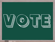 Vote Wirtten on Chalkboard Royalty Free Stock Photo