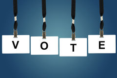 Vote word Royalty Free Stock Images