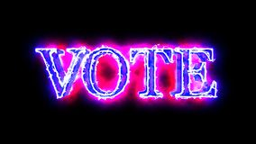 Vote word Blue and Red 3D animation 4K video overlay stock video footage