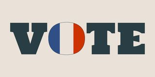 Vote word with France flag Stock Image