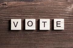 Vote word Stock Photo