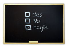 Vote yes or no Royalty Free Stock Images