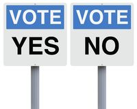 Vote Yes or No Stock Photos