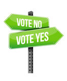 Vote yes or no road sign Royalty Free Stock Photos
