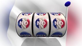 Vote, Yes and NO words, for French elections stock footage