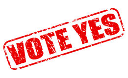 Vote yes red stamp text Stock Images