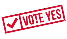Vote Yes rubber stamp. Grunge design with dust scratches. Effects can be easily removed for a clean, crisp look. Color is easily changed Stock Images