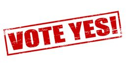 Vote yes. Rubber stamps with text vote yes inside,  illustration Stock Photography