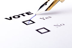 Vote Yes Stock Image