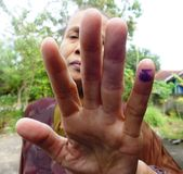 Voted in Indonesia presidential election Stock Image