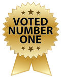 Voted Number One Seal. An illustration promoting being voted number one royalty free illustration