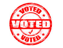 Voted stamp Stock Photo