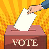 Voter ballot box politics elections Royalty Free Stock Photography