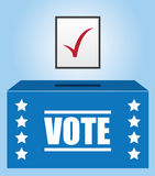 Voter Box. With checked ballot Royalty Free Stock Images
