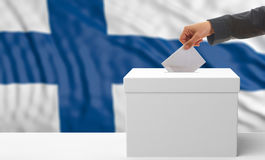 Voter on a Finland flag background. 3d illustration Stock Photo