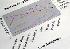 Voter Issues Graph. This is an image of a graph representing voter issues Stock Images