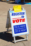 Voter Registration at the University of Oregon Stock Photo