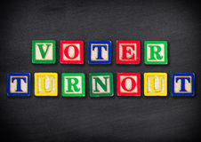 Voter turnout. Education concept in school Royalty Free Stock Photo