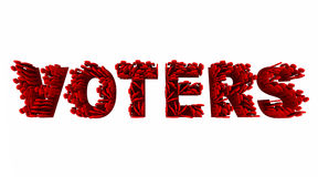 Voters People Election Democracy Demo Groups Word Royalty Free Stock Photo