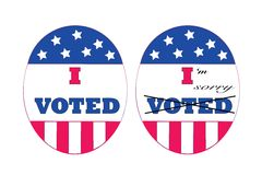 Voters remorse royalty free stock image
