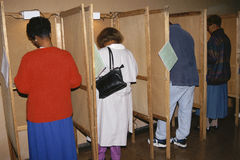 Voters selecting candidates Royalty Free Stock Image