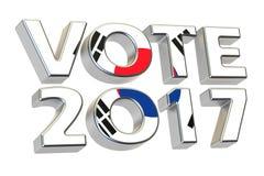 Votez 2017 en Corée du Sud, concept d'élection présidentielle 3d les déchirent Images libres de droits
