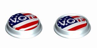 Votez les boutons 1. illustration stock