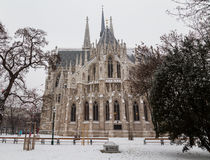 Votice Church in Vienna in the Winter with Snow Royalty Free Stock Photography