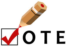 Voting. Casting your vote in the election Royalty Free Stock Photography