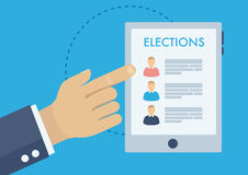 Voting advice application, choosing candidate. Voting advice application, politics and elections illustration, choosing candidate Royalty Free Stock Photo
