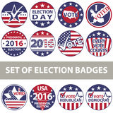 Voting Badges Royalty Free Stock Photos