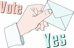 Voting at the Ballot Box Stock Image