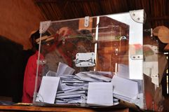 Voting booth in madagascar Stock Images