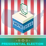 Voting Box and Ballot USA Election 2016 Royalty Free Stock Image