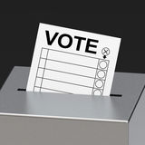 The voting box Royalty Free Stock Photo