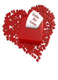 Voting box and heart Stock Photography