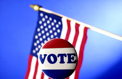 Voting campaign items Royalty Free Stock Photos