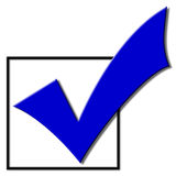 Voting Checkmark. For the 2008 election campaign Stock Images