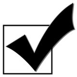 Voting Checkmark. For the 2008 election campaign royalty free illustration
